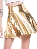 abordables Pantalons Femme-Femme Sexy Polyuréthane Mini Balançoire Jupes - Couleur Pleine Argent Rose Claire Arc-en-ciel L XL XXL