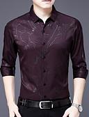 billige Herreskjorter-Tynd Herre - Ensfarvet Skjorte Blå XXL