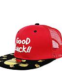 זול ילדים כובעים ומצחיות-מידה אחת לבן / שחור / אודם כובעים ומצחיות כותנה מסוגנן / רקום קולור בלוק / אותיות פעיל / בסיסי / מתוק בנים / בנות ילדים / פעוטות