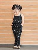 hesapli Elbiseler-Toddler Genç Kız sevimli Stil Günlük Kalp Desen Kolsuz Tulumlar Siyah