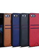 זול מגנים לאייפון-מגן עבור Apple iPhone XS / iPhone XR / iPhone XS Max מחזיק כרטיסים כיסוי אחורי אחיד קשיח עור PU