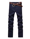 levne Pánské kalhoty a kraťasy-Pánské Základní Štíhlý Kalhoty chinos Kalhoty - Jednobarevné Klasika Bavlna Fialová Khaki Námořnická modř 34 36 38