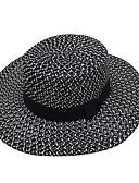 cheap Bikinis-Unisex Party Basic Cute Cotton Sun Hat-Striped Floral Print All Seasons White Black