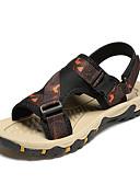 hesapli Erkek Gömlekleri-Erkek Ayakkabı Örümcek Ağı Yaz Klasik / Günlük Sandaletler Yürüyüş Günlük / Dış mekan için Gri / Siyah / Mavi / Turuncu & Siyah