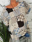 billige Skjorter til damer-Store størrelser Skjorte Dame - Geometrisk, Trykt mønster Grunnleggende Grønn