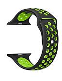 Недорогие Чехол для умных часов-ремешок для яблока iwatch ремешок 42мм 38мм 40мм 44мм двухцветный силиконовый ремешок для ремешка iwatch 4/3/2/1 креативные двухсторонние браслеты