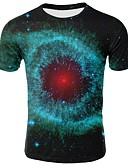 hesapli Erkek Tişörtleri ve Atletleri-Erkek Yuvarlak Yaka Tişört Galaksi Büyük Bedenler Yonca