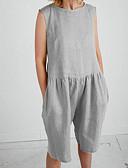 povoljno Ženski jednodijelni kostimi-Žene Osnovni / Ulični šik Red Sive boje Bijela Jumpsuits, Jednobojni XXL XXXL XXXXL