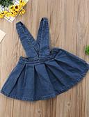 זול אוברולים טריים לתינוקות-חצאית כותנה גב חשוף אחיד פעיל / בסיסי בנות תִינוֹק / פעוטות