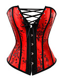cheap Corsets & Bustiers-Women's Hook & Eye Corset Set - Solid Colored / Sexy
