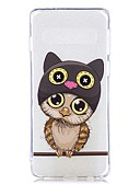 זול מגנים לטלפון-מגן עבור Samsung Galaxy S9 / S9 Plus / S8 Plus שקוף / תבנית כיסוי אחורי חתול רך TPU