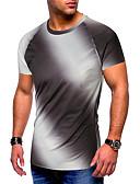 hesapli Erkek Tişörtleri ve Atletleri-Erkek Yuvarlak Yaka İnce - Tişört Desen, Çizgili Havuz