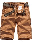 billige T-shirts og undertrøjer til herrer-Herre Sporty Chinos / Shorts Bukser - Trykt mønster Bomuld Army Grøn Kakifarvet Lysegrå 34 36 38