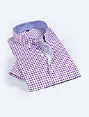 preiswerte Herren Polo Shirts-Herrn Verziert Baumwolle Hemd Blau 41