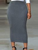 cheap Women's Skirts-Women's Basic Pencil Skirts - Solid Colored Knitting Black Green Gray S M L / Slim