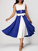 abordables Vestidos de Mujer-Mujer Sofisticado Elegante Vaina Vestido Bloques Midi