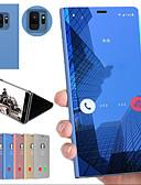 hesapli Cep Telefonu Kılıfları-Pouzdro Uyumluluk Samsung Galaxy S9 / S9 Plus / S8 Plus Şoka Dayanıklı / Satandlı / Ayna Arka Kapak Solid Sert PC