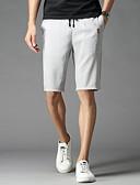 tanie Męskie spodnie i szorty-Męskie Podstawowy Szczupła Typu Chino Spodnie - Solidne kolory Bawełna Czarny Szary XXL XXXL XXXXL / Ściągacze