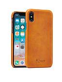 זול מגנים לאייפון-מגן עבור Apple iPhone XS / iPhone XR / iPhone XS Max עמיד בזעזועים כיסוי אחורי אחיד קשיח עור PU