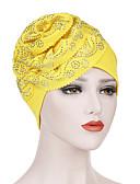 voordelige Dameshoeden-Dames Standaard Polyester,Bloemen Floppy hoed-Alle seizoenen Blozend Roze Geel Fuchsia