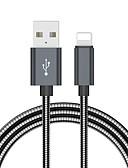 זול כבל & מטענים iPhone-כבל 2.0m (6.5ft) תשלום מהיר נירוסטה כבל USB מתאם עבור