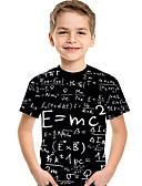 povoljno Majice za dječake-Djeca Dijete koje je tek prohodalo Dječaci Aktivan Osnovni Geometrijski oblici Print Print Kratkih rukava Majica s kratkim rukavima Crn