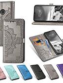 זול מגנים לטלפון-מגן עבור Huawei Huawei P20 / Huawei P20 Pro / Huawei P20 lite ארנק / מחזיק כרטיסים / נפתח-נסגר כיסוי מלא פרח קשיח עור PU / TPU