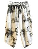 abordables Camisetas y Tops de Hombre-Hombre Tejido Oriental Tallas Grandes Corte Ancho Chinos Pantalones - Estampado Beige XXXL XXXXL XXXXXL