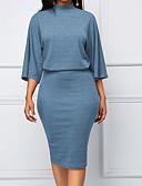 abordables Vestidos de Mujer-Mujer Sofisticado Elegante Vaina Vestido Geométrico Hasta la Rodilla
