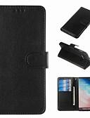 Недорогие Чехлы для телефонов-Кейс для Назначение SSamsung Galaxy S9 / S9 Plus / S8 Plus Кошелек / Бумажник для карт / Защита от удара Чехол Однотонный Твердый Кожа PU