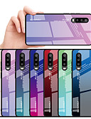 זול מגנים לטלפון-מגן עבור Huawei Huawei P30 / Huawei P30 Pro / Huawei P30 לייט עמיד בזעזועים / עמיד במים כיסוי אחורי שמיים / צבע הדרגתי קשיח TPU / זכוכית משוריינת / PC