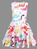 cheap Girls' Tops-Kids Girls' Animal Dress Rainbow
