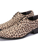 povoljno Muške majice i potkošulje-Muškarci Udobne cipele PU Proljeće Ležerne prilike Oksfordice Non-klizanje Leopard Braon / Žutomrk