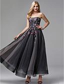 preiswerte Abendkleider-Ballkleid Trägerlos Knöchel-Länge Tüll Abiball / Formeller Abend Kleid mit Applikationen durch TS Couture®