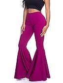 halpa Naisten housut-Naisten Perus Flare Housut - Yhtenäinen Punastuvan vaaleanpunainen Purppura Keltainen XL XXL XXXL