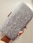 cheap Evening Dresses-Women's Rhinestone Evening Bag Rhinestone Crystal Evening Bags PU(Polyurethane) Solid Colored Gold / Black / Silver
