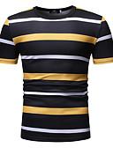 cheap Men's Tees & Tank Tops-Men's Casual T-shirt - Plaid Round Neck Green XL