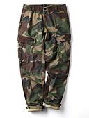 levne Pánské kalhoty a kraťasy-Pánské Základní Kalhoty chinos Kalhoty - Jednobarevné / Tisk Bavlna Černá Armádní zelená Khaki 34 36 38