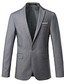 זול ז'קטים-שחור / אפור / נייבי כהה אחיד גזרה צרה כותנה חליפה - פתוח Single Breasted One-button