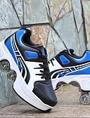 זול חולצה-בנים / בנות נוחות PU נעלי אתלטיקה ילדים קטנים (4-7) / ילדים גדולים (7 שנים +) שחור אדום / שחור / כחול אביב / סתיו