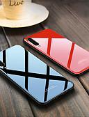 זול מגנים לטלפון-מגן עבור Samsung Galaxy A6 (2018) / A6+ (2018) / A8 2018 עמיד בזעזועים כיסוי אחורי אחיד קשיח TPU / זכוכית משוריינת