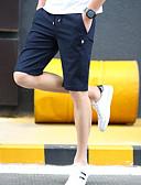 hesapli Erkek Pantolonları ve Şortları-Erkek Sportif İnce Şortlar Pantolon - Solid Mavi, Klasik Pamuklu Beyaz Açık Mavi Ordu Yeşili XXL XXXL XXXXL / Elastikiyet