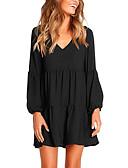 hesapli Mini Elbiseler-Kadın's Sokak Şıklığı sofistike Kombinezon Elbise - Solid Diz üstü
