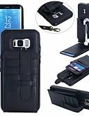 Недорогие Чехлы для телефонов-Кейс для Назначение SSamsung Galaxy S8 Plus / S8 / S7 edge Бумажник для карт Кейс на заднюю панель Однотонный Твердый Кожа PU
