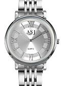 זול מגנים לטלפון-ASJ בגדי ריקוד נשים קווארץ אופנתי אלגנטית לבן מתכת אל חלד קוורץ יפני לבן זהב בהיר שעונים יום יומיים צג גדול יחידה 1 אנלוגי שנה אחת חיי סוללה