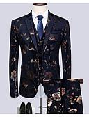 זול חולצות לגברים-בגדי ריקוד גברים שחור XXXXL XXXXXL XXXXXXL חליפות מידות גדולות גיאומטרי רזה