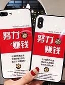 זול מגנים לאייפון-מגן עבור Apple iPhone XS / iPhone XR / iPhone XS Max תבנית כיסוי אחורי מילה / ביטוי קשיח זכוכית משוריינת