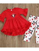 זול חולצות לבנות-סט של בגדים חצי שרוול אחיד בסיסי בנות ילדים