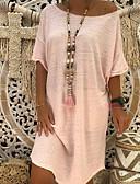 זול שמלות מיני-הנשים של הברך אורך חולצת טריקו חאקי מסמיק ורוד צהוב s l xl
