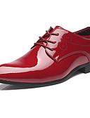 رخيصةأون سترات و بدلات الرجال-رجالي أحذية رسمية جلد محفوظ للربيع والصيف / خريف & شتاء الأعمال التجارية / بريطاني أوكسفورد أسود / أحمر / أزرق / الحفلات و المساء
